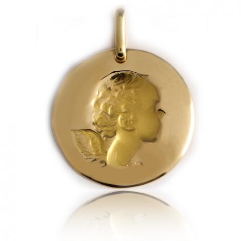 Médaille Ange Or Jaune 17 mm Éléonore - XR1398