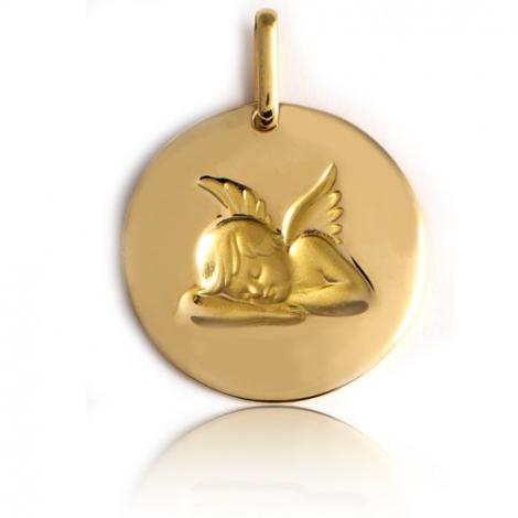 Médaille Ange Or Jaune 17 mm Elisa - XR1396
