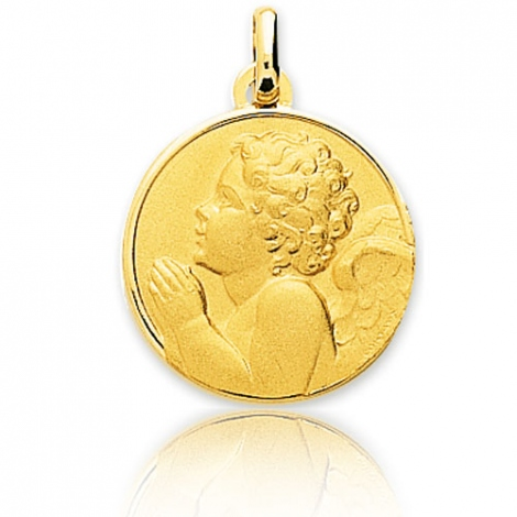Médaille Ange Or Jaune 18 mm Anthea - 20418
