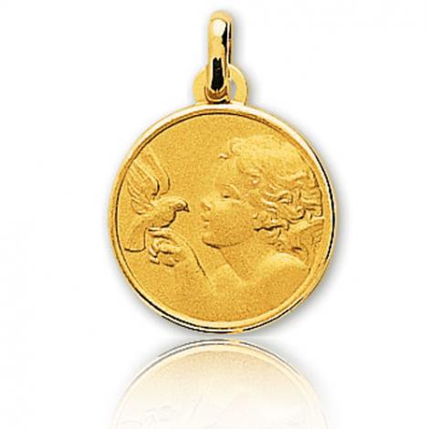 Médaille Ange Or Jaune 19 mm Agatha - 20425