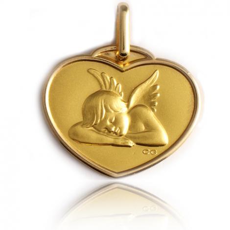 Médaille Ange Or Jaune  Dahlia - XR1388