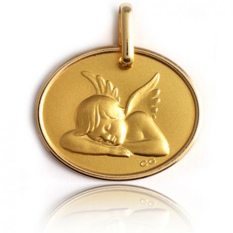 Médaille Ange Or Jaune  Dahlia - XR1393