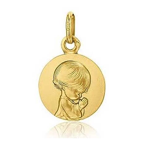 Médaille Ange Priant Augis Or Jaune 14 mm Féerique 3630000400
