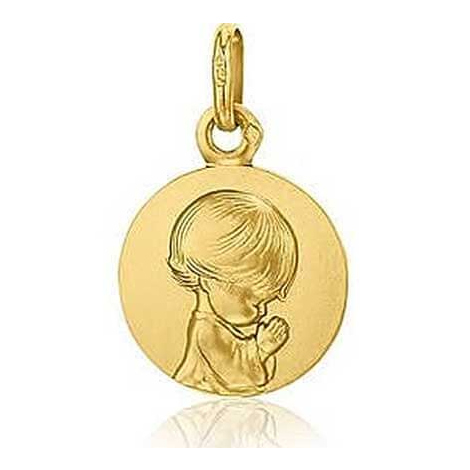 Médaille Ange Priant Augis Or Jaune 16 mm Hélia 3630000300