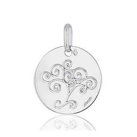 Médaille Arbre de Vie  Augis en  Or Blanc  16 mm  Galya -  G2665X0000