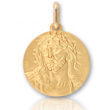 Médaille Christ en Or Blanc 4 g - Jessica