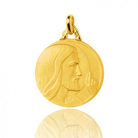 Médaille Christ en Or Jaune 1.9 g - Rosie