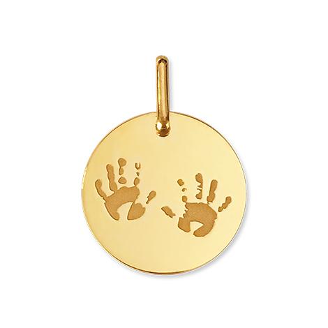 Médaille empreintes de mains