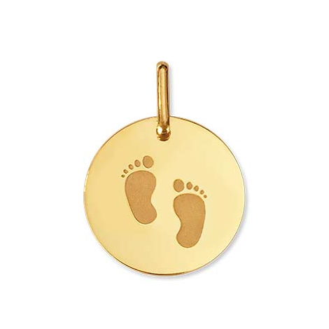 Médaille empreintes de pieds