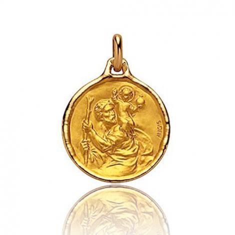 Médaille Saint Christophe Augis 16 mmOr Jaune- 3500027700