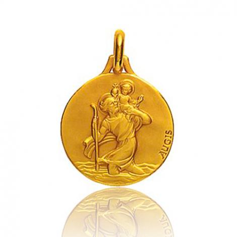 Médaille Saint Christophe Augis patine main 16 mmOr Jaune- 3500031900