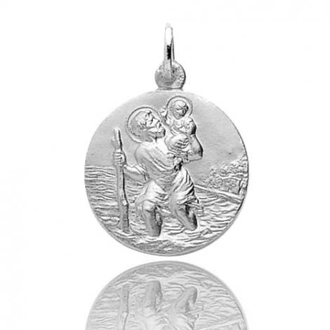 Médaille Saint Christophe Or Blanc 3.25g Mayla - 20068G