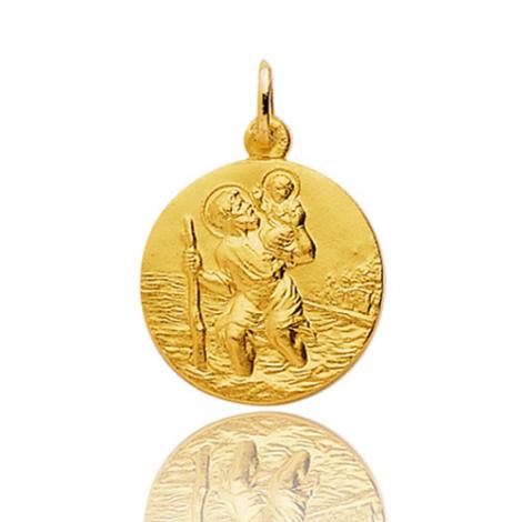 Médaille Saint Christophe Or Jaune 1.9g Yasmine - 9K20067