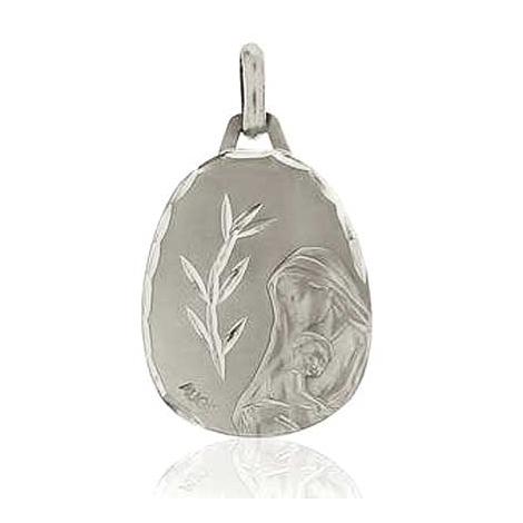 Médaille Vierge à l'Enfant Augis en Or Blanc  Sarah 5500000400