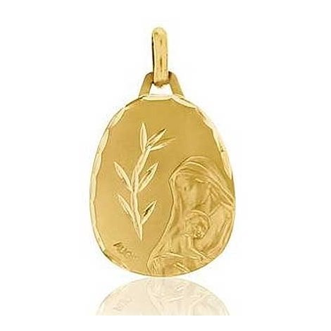 Médaille Vierge à l'Enfant Augis en Or Jaune  Aurore 3500034100