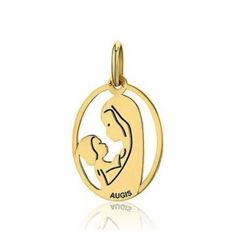 Médaille Vierge à l'Enfant Augis en Or Jaune  Léana 3500027000
