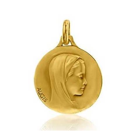 Médaille Vierge au voile Augis en Or Jaune 16 mm Lorie 3500030400