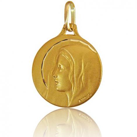 Médaille Vierge au voile Augis en Or Jaune 16 mm Milena 3500030900