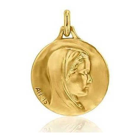 Médaille Vierge au voile Augis patine main en Or Jaune 20 mm Aïleen 3500030200