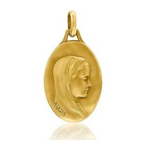 Médaille Vierge au voile Augis patine main en Or Jaune  Jessica 3500030500