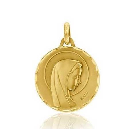 Médaille Vierge Auréolée Augis en Or Jaune 16 mm Geneva 3500035900