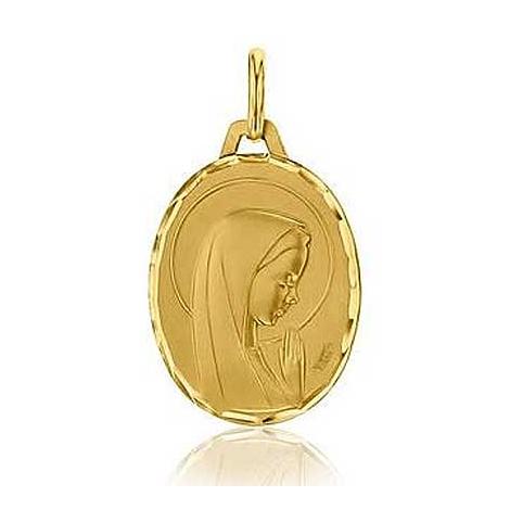 Médaille Vierge mains jointes Augis en Or Jaune  Océania 3500035700