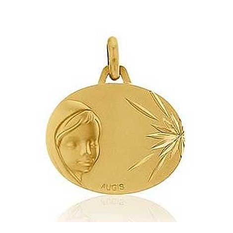 Médaille Vierge Marie Augis en Or Jaune  Rhodia 3500033800