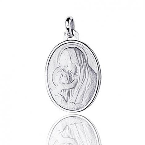 Médaille vierge  Or Blanc  Élizabeth