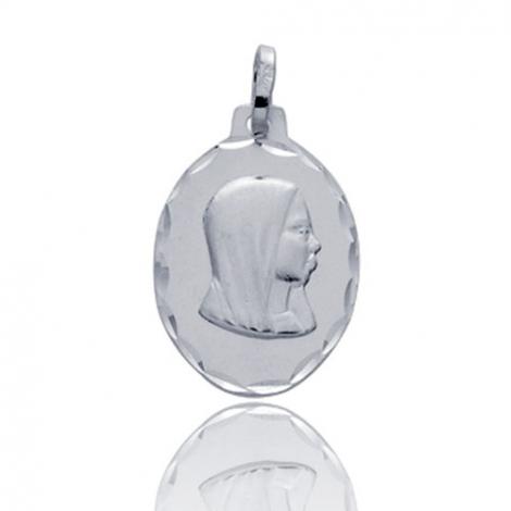 Médaille vierge  Or Blanc  Amélie
