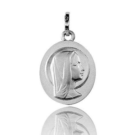 Médaille vierge  Or Blanc  Delphine