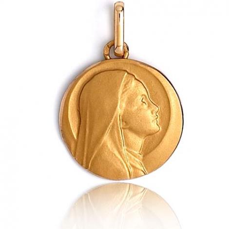 Médaille vierge  Or Jaune 12 mm Roxanne -R1252