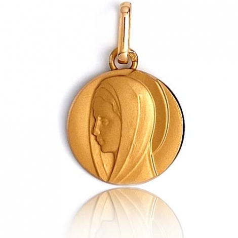 Médaille vierge  Or Jaune 13 mm Diana -XR3318