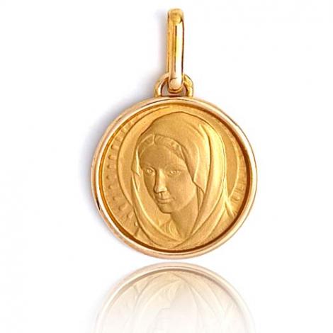Médaille vierge  Or Jaune 14 mm Cécile