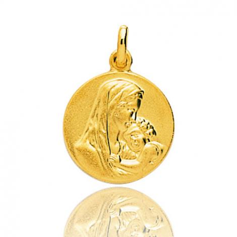 Médaille vierge  Or Jaune 15 mm Eshana -9K20319
