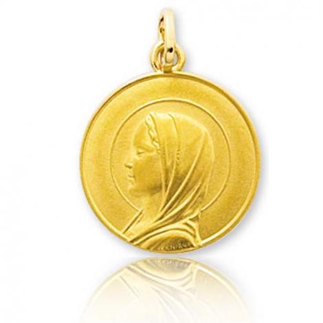 Médaille vierge  Or Jaune 15 mm Kathy