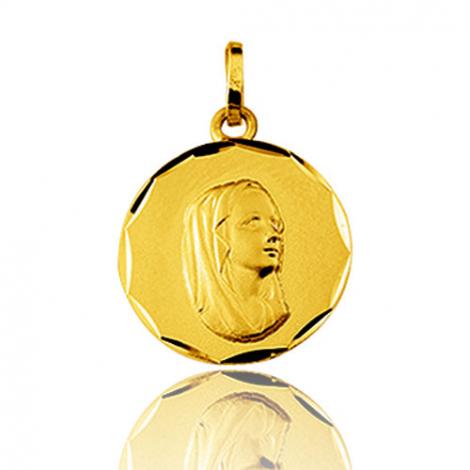 Médaille vierge  Or Jaune 15 mm Kenza