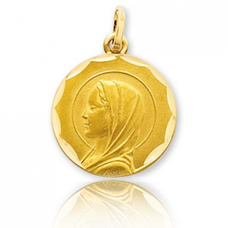 Médaille vierge  Or Jaune 15 mm Tallulah