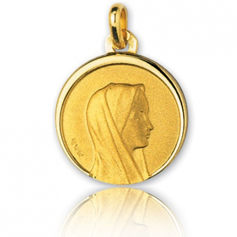 Médaille vierge  Or Jaune 16 mm Anastasia