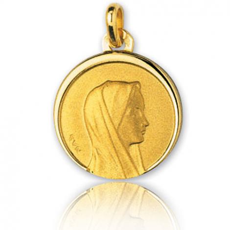 Médaille vierge  Or Jaune 16 mm Anastasia -28916