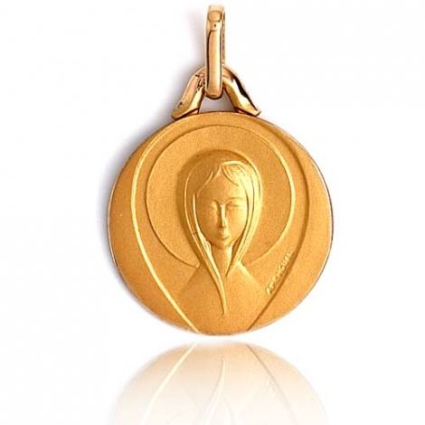 Médaille vierge  Or Jaune 16 mm Théa