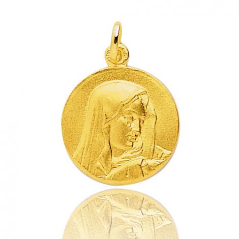 Médaille vierge  Or Jaune 17 mm Agatha