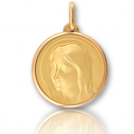 Médaille vierge  Or Jaune 17 mm Attachement