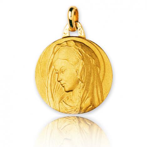 Médaille vierge  Or Jaune 17 mm Fiona