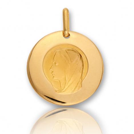 Médaille vierge  Or Jaune 17 mm Julia