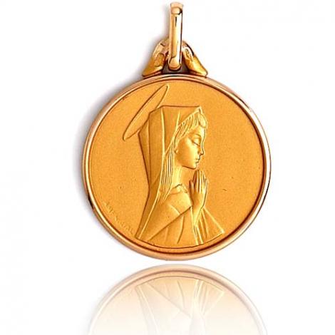 Médaille vierge  Or Jaune 17 mm Kathleen -XR3402