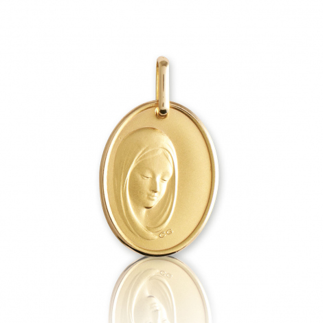 Médaille vierge  Or Jaune 17 mm Keiko