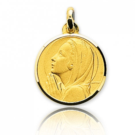 Médaille vierge  Or Jaune 17 mm Maria