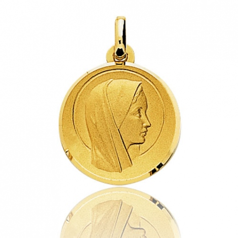 Médaille vierge  Or Jaune 17 mm Stefania