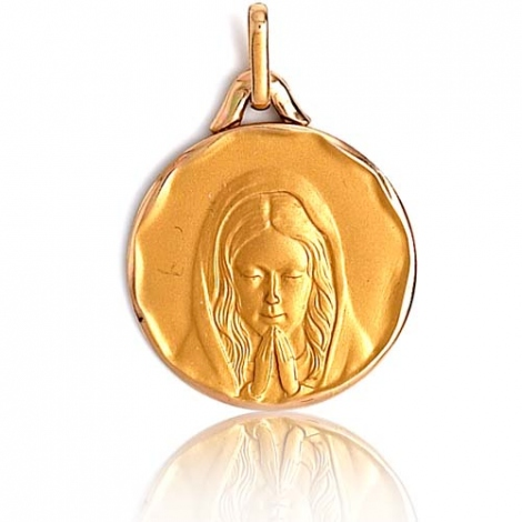 Médaille vierge  Or Jaune 18 mm Koralie