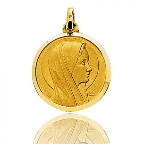 Médaille vierge  Or Jaune 19 mm Allissa